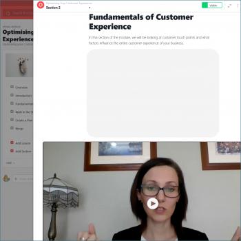 Screenshot: module showing video